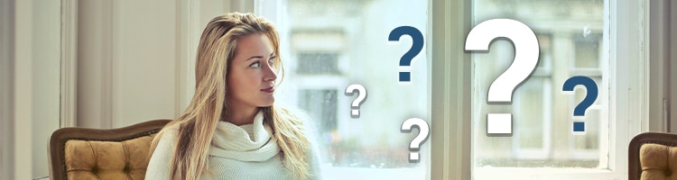 girl thinking about a lot of questions
